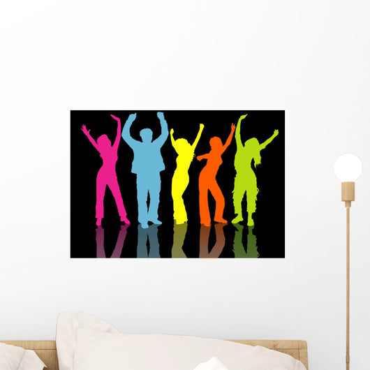 colourful people Wall Mural