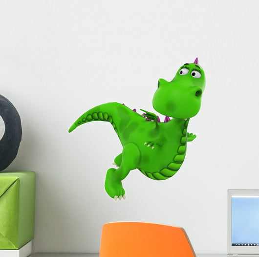 baby dragon flying Wall Decal