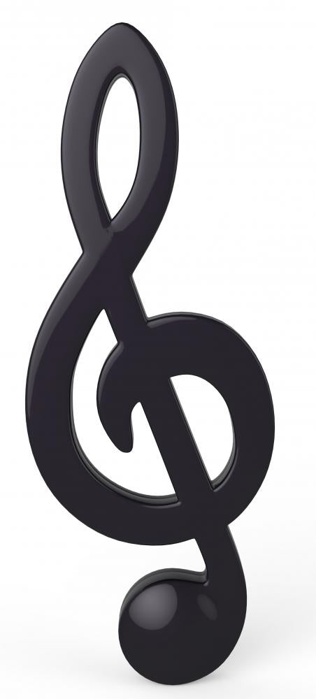 Note Treble Black Version