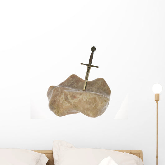 excalibur sword in a rock Wall Decal