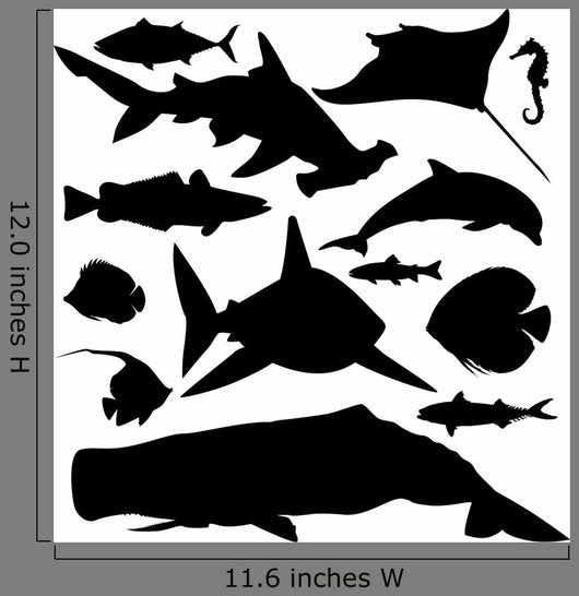 Ocean Animals Fish Wall Stickers