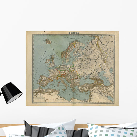 Old Map Europe Wall Mural