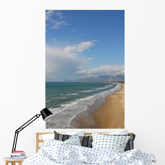 winter beach Wall Mural