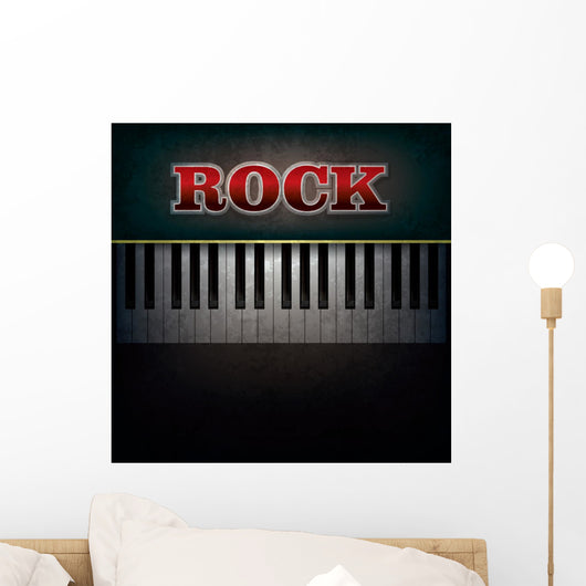 Abstract with Word Rock Wall Mural