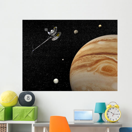 Voyager Spacecraft near Jupiter Wall Mural