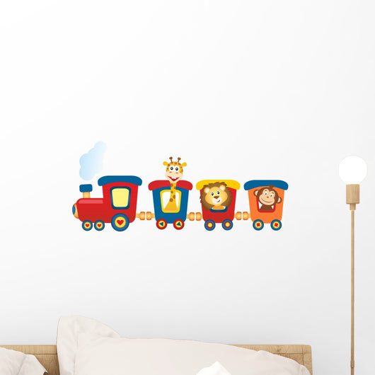 Train with Animals Wall Decal