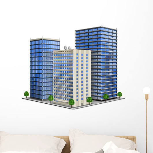 Office Building Wall Decal