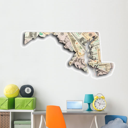 Map Maryland Wall Decal