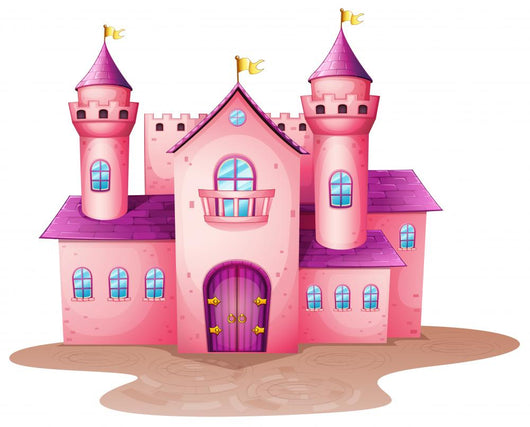 Pink Colored Castle