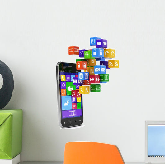 Smartphone media concept Wall Decal