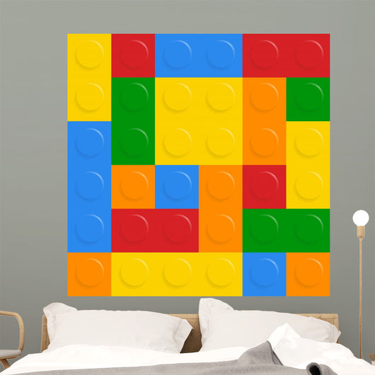 Building Blocks Pattern Wall Mural