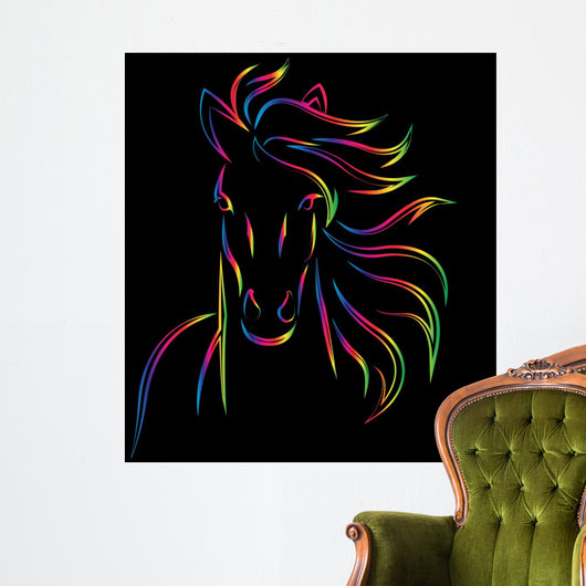 Vector Image of an Horse Wall Decal
