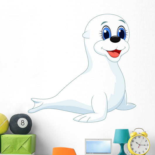 Baby Seal Cartoon Wall Decal
