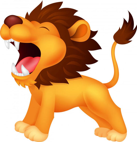 Lion Roaring Wall Decal