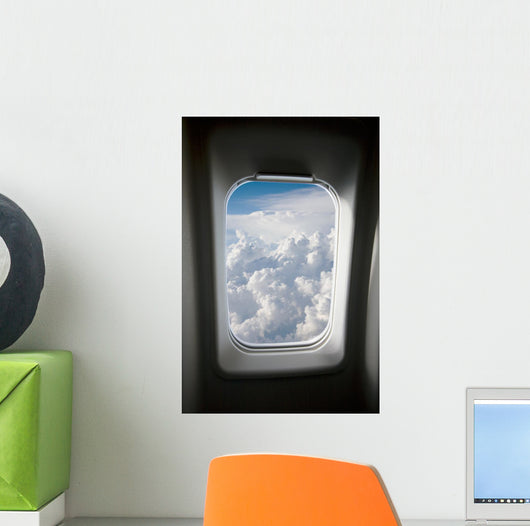 Plane Window Wall Mural