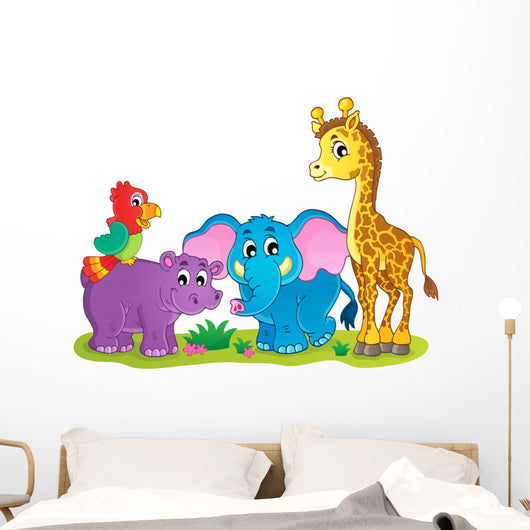 Cute African animals theme image 4 Wall Decal