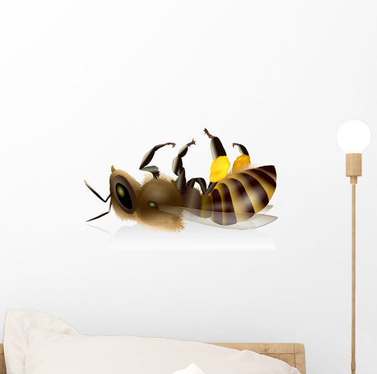 Dead Bee Bees Dead Wall Decal