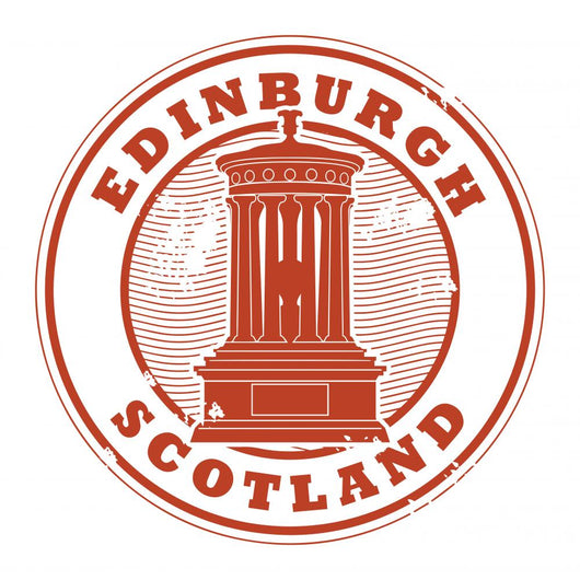 Stamp with the name of Edinburgh, Scotland written inside Wall Decal