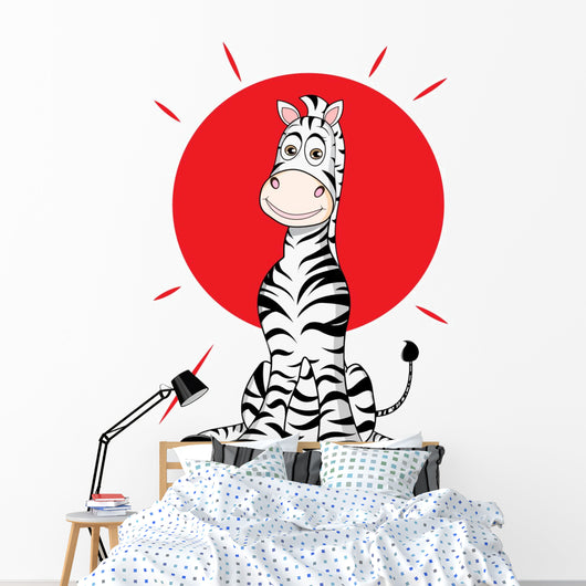 Zebra with Sun Funny