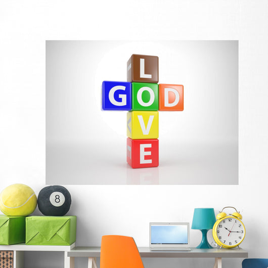 God and Love out Wall Mural