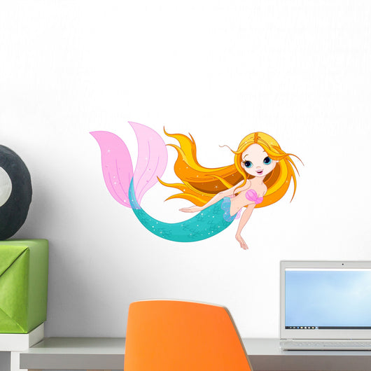 Cute Mermaid Wall Decal