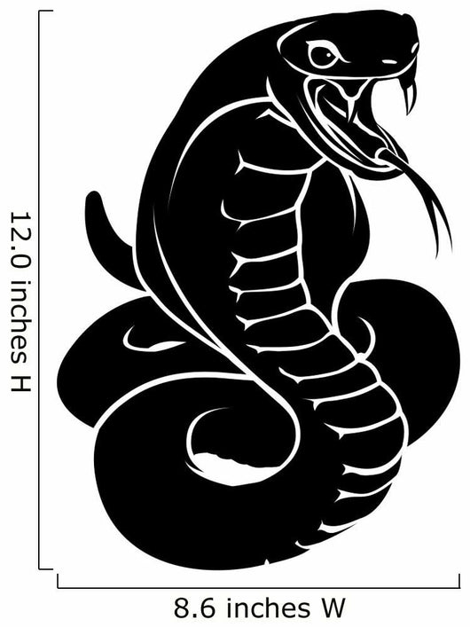 Stylised snake illustration Wall Decal