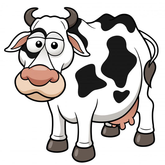 Vector illustration of Cow cartoon Wall Decal