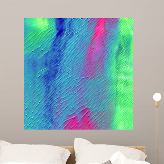 Abstract acrylic painted background Wall Mural