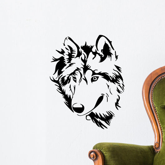 wolf head sketch vector Wall Decal