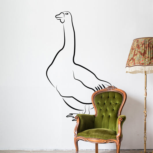 Goose silhouette isolated on white Wall Decal