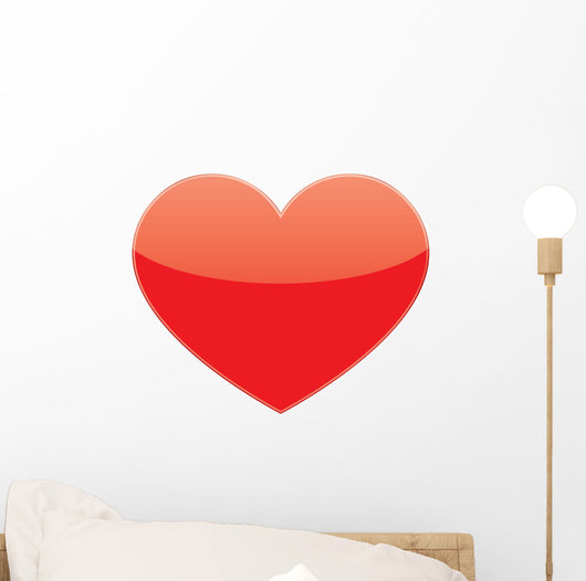 Vector Love Red Heart Wall Decal