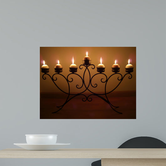 Candle Light Wall Mural
