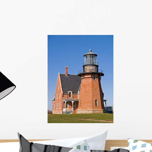 Historic Southeast Light on Block Island, RI Wall Mural