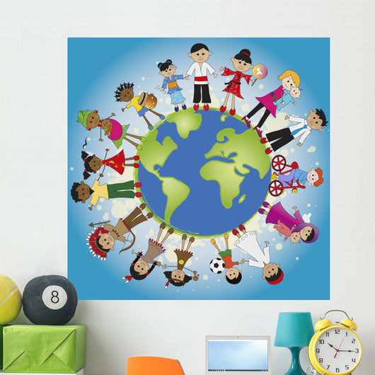 Family World Wall Mural