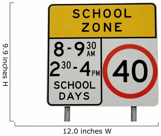 Isolated school zone sign Wall Decal