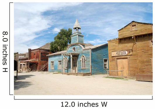 Scenery in a traditional American western town Wall Mural