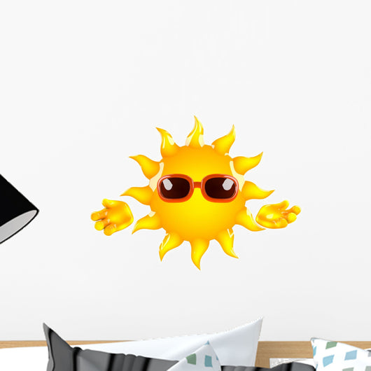 Sunshine welcomes you Wall Decal