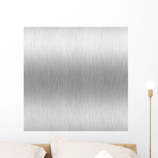 brushed aluminum Wall Mural