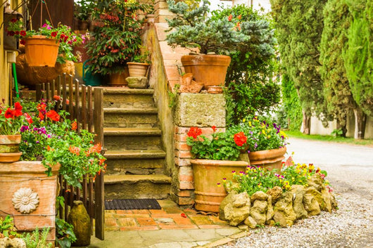 Beautiful Decorated Entrance to