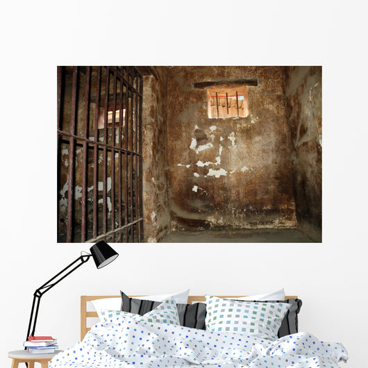 Dirty jail cell Wall Mural