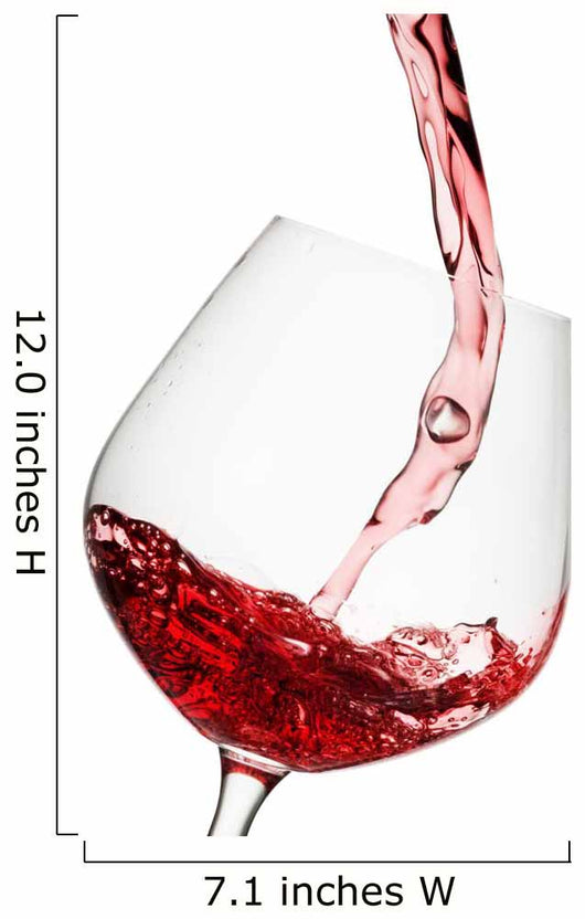 Red Wine Poured Glass