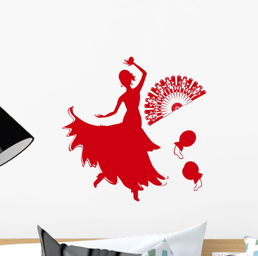 red flamenco dancer Wall Decal