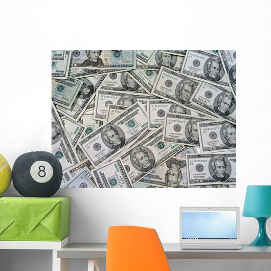Pile of Money Wall Mural