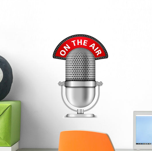 Retro Microphone On The Air Wall Decal