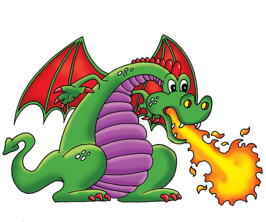 Green Dragon Wall Decal