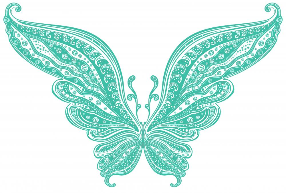 Turquoise Butterfly Wall Decal