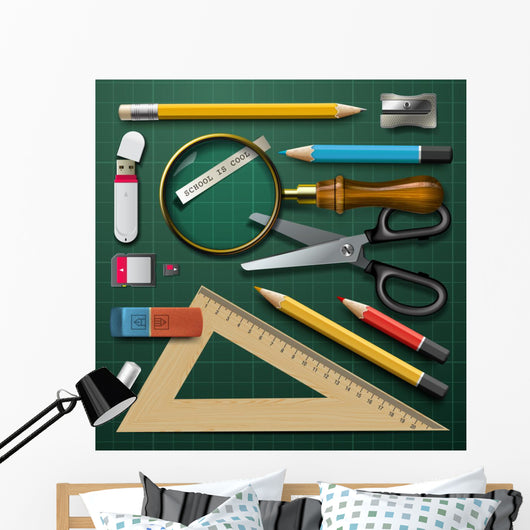 school supplies Wall Decal