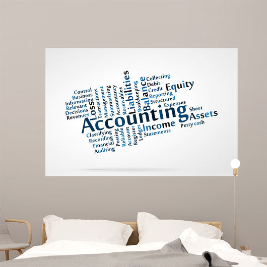 Accounting Word Cloud with Wall Decal – WallMonkeys com