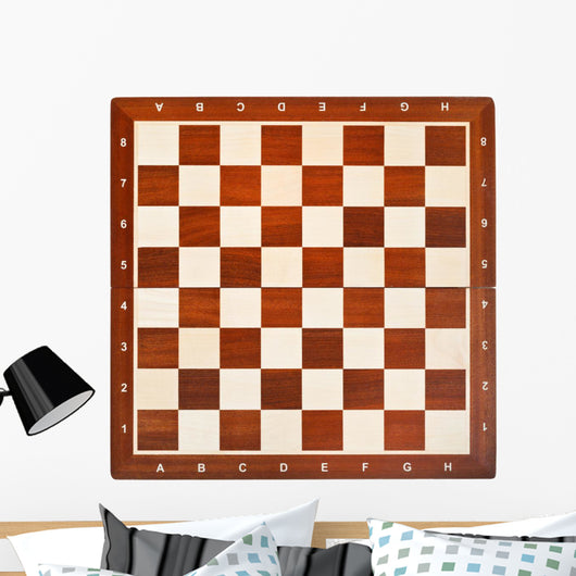 Wooden Chess Board Wall Mural