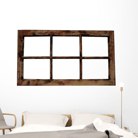 Weathered Window Frame Wall Decal